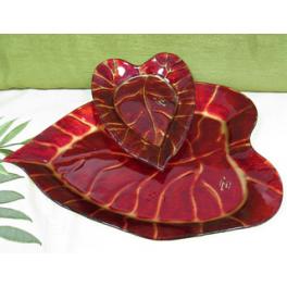 Блюдо из стекла Мурано «Листопад», 30х30 см