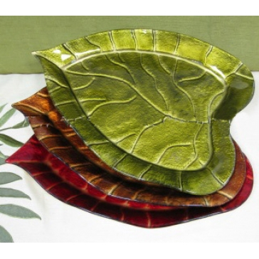 Блюдо из стекла Мурано «Листопад»