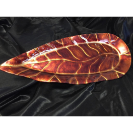 Блюдо из стекла Мурано «Лист», 22х51 см