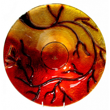 Блюдо из стекла Мурано, диаметр 38 см