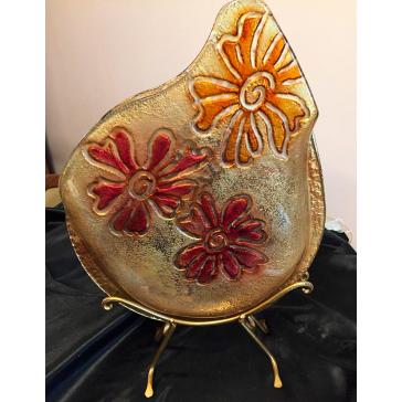 Ваза интерьерная из муранского стекла
