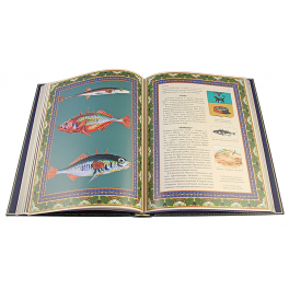 Подарочный набор «Русская рыбалка»: кожаная книга и плакетка с росписью