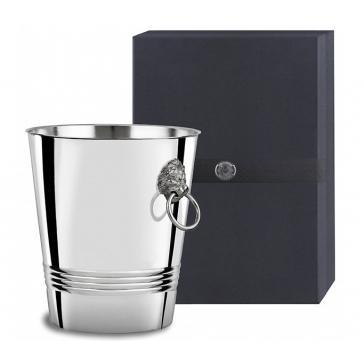 Ведро для шампанского «Лев» с литыми ручками, материал: мельхиор