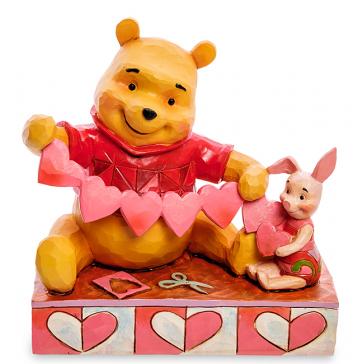 Яркая фигурка Винни-Пух и Пятачок «С Днём Святого Валентина!»