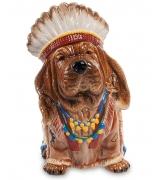 Статуэтка-копилка собака «Вождь племени»