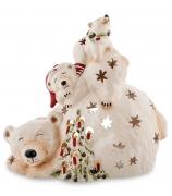 Статуэтка-подсвечник «Белые медведи»