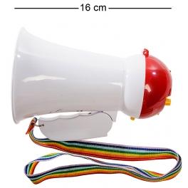 Карманный мегафон с опцией «режим сирены»