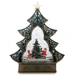 Новогодний сувенир в форме елки «Наряжаем ёлочку» (с подсветкой)