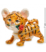 Сувенир-шкатулка «Тигрёнок с розой»