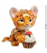 Сувенир-шкатулка «Тигрёнок с тортиком»