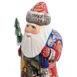 Резная фигура Дед Мороз «Рождество», высота 20 см