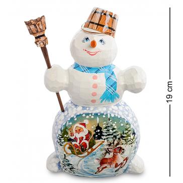 Резная фигурка «Снеговик», ручная работа
