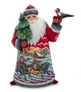 Фигура «Дед Мороз с птичкой»