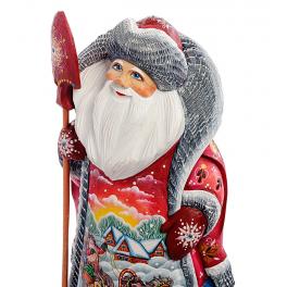 Резная фигура Деда Мороза «Тройка», высота 27 см