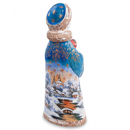 Резная фигурка «Снегурочка с птичкой», высота 24 см