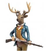 Статуэтка оленя «Джентльмен на охоте»