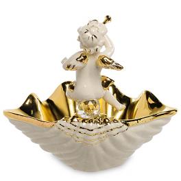 Вазочка-конфетница из керамики «Ангелочек-музыкант»
