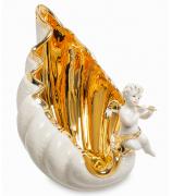 Cтатуэтка из керамики «Ангелочек на ракушке»