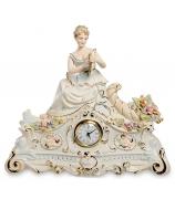 Настольные часы «Девушка с лирой»