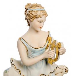 Настольные часы из фарфора «Девушка с лирой»