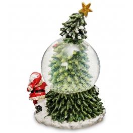 Новогодний музыкальный сувенир — Снежный шар «Новогоднее чудо»