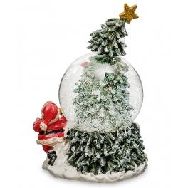 Новогодний музыкальный сувенир с подсветкой — Снежный шар «Новогоднее чудо»