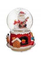 Снежный шар «Санта со снеговичком» (с подсветкой)