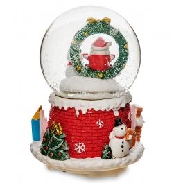 Новогодний музыкальный сувенир с подсветкой — Снежный шар «Рождество»