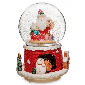 Новогодний музыкальный сувенир с подсветкой — Снежный шар «Чудо Рождества»