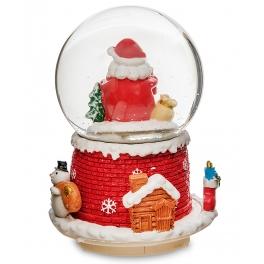 Новогодний музыкальный сувенир с подсветкой — Снежный шар «Дед Мороз»
