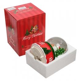 Новогодний музыкальный сувенир — Снежный шар «Подарки от Санты»
