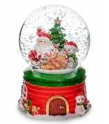Снежный шар «Подарки от Санты» (с подсветкой)