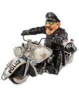 Статуэтка «Полицейский на мотоцикле»