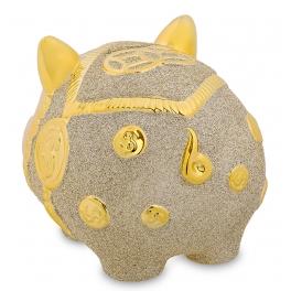 Копилка свинка «К достатку!», материал керамика