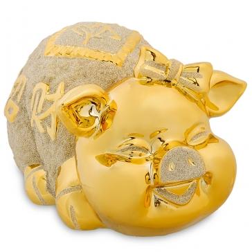 Копилка из керамики «Золотая свинка 2019»