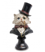 Статуэтка — Бюст «Кот в цилиндре»