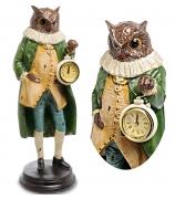 Статуэтка филина с часами «Мудрый Урфин»