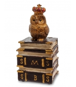 Шкатулка «Сова на книгах»