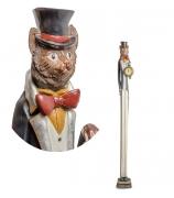 Статуэтка с часами «Кот во фраке»