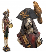 Статуэтка собаки с часами «Капитан Крюк»