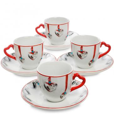 Подарочный набор кофейных пар  из фарфора