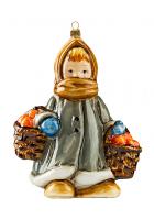 Елочная игрушка «Девочка с апельсинами»
