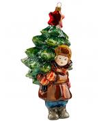 Елочная игрушка «Мальчик с елкой»