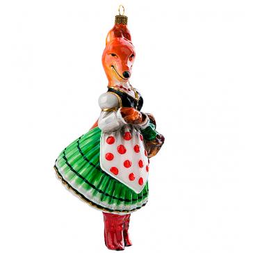 Елочная игрушка ручной работы «Лисичка сестричка»