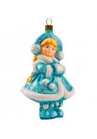 Елочная игрушка «Снегурочка с муфточкой»
