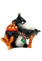 Елочная игрушка «Ворон с орехами»