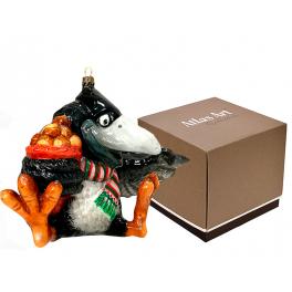 Елочная игрушка «Ворон с орехами», производство Польша