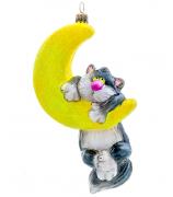 Елочная игрушка «Кот на месяце»