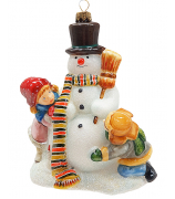 Елочная игрушка «Игра со снеговиком»
