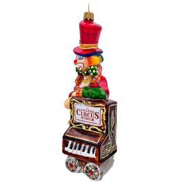 Елочная игрушка из стекла «Шарманщик»